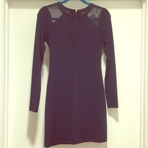 Express Navy Blue Long Sleeve Dress
